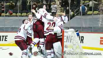 UMass Men's Ice Hockey Wins 1st National Title, Beating St. Cloud State 5-0 In Championship Game - CBS Boston