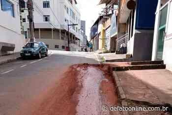Itabira: rua São José será interditada para manutenção da rede de água - DeFato Online