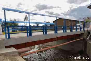 Cajamarca: ARCC inaugura segundo tramo de puente Los Ingenieros en Cajabamba - Agencia Andina