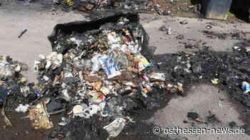 Wer macht so etwas? Brennende Mülltonnen in der Steubenallee - Osthessen News
