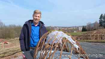 Fulda: Zur Landesgartenschau 2023 wird eine Bühne aus Weidenzweigen gebaut - Fuldaer Zeitung
