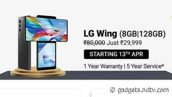 LG Wing Gets Massive Price Cut, Up for Grabs at Rs. 29,999