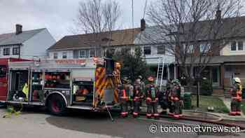Firefighters tackle two-alarm fire at Etobicoke townhouse - CTV Toronto