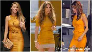 Blake Lively Vs Jenifer Lawrence Vs Jennifer Lopez: Who Looked Adorable In Mustard Yellow Leather Outfit? - IWMBuzz