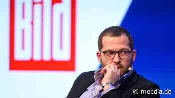 """""""Bild""""-Chefredakteur Julian Reichelt legt sich mit dem """"Spiegel"""" an"""