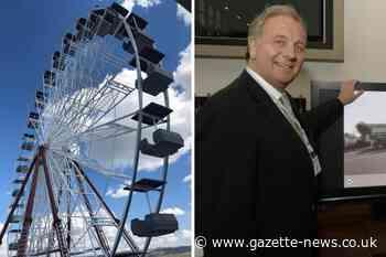 Installation of Clacton Pavilion's big wheel gets underway