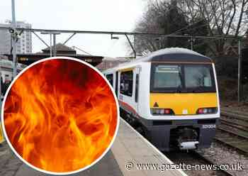 Emergency services called to fire near railway in Colchester