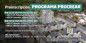 Procrear: Morón inicia la preinscripción para viviendas en Castelar Sur y Haedo - Tiempo Pyme