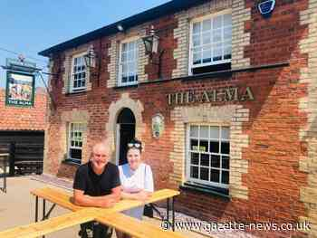 The Alma in Copford welcomes back first customers after lockdown
