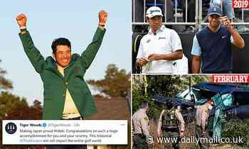 Tiger Woods congratulates Hideki Matsuyama on Masters win after cops give him a pass on crash