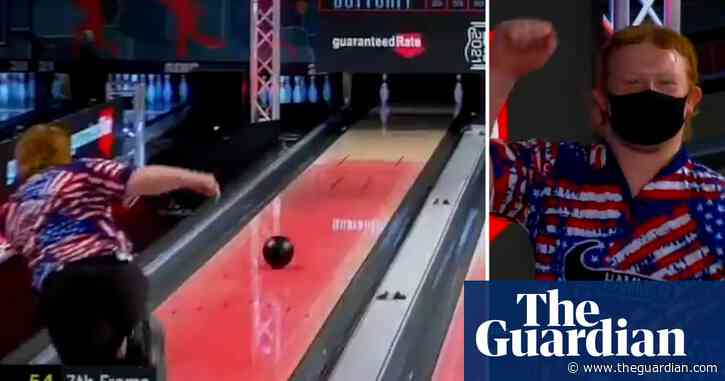 'Give me oxygen': teenager hits first 7-10 bowling split on TV for 30 years – video