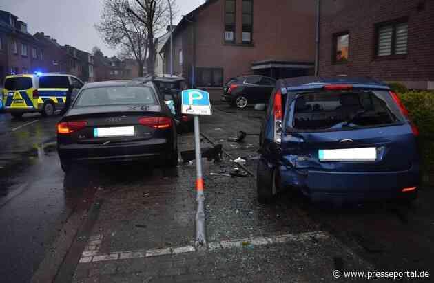 POL-MG: Betrunkener Autofahrer verliert die Kontrolle und beschädigt drei Fahrzeuge sowie zwei Verkehrszeichen