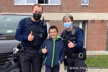 Lucas (10) uit Lier helpt politie om vermist kindje en ouders te herenigen