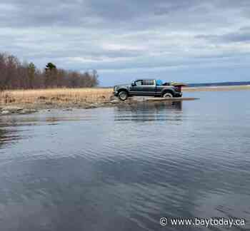 Remember that truck that fell through the ice in Callander Bay?