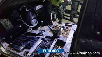 En fotos: la caleta de mortales armas de disidentes hallada en carro - El Tiempo