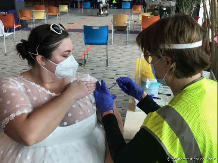 Maryland Woman Wears Wedding Dress To Get Vaccinated