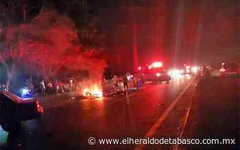 Motociclista derrapa y muere en la Villahermosa-Teapa - El Heraldo de Tabasco