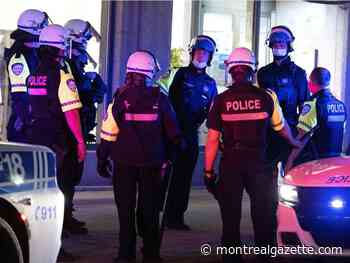 Montreal police handed out record 583 curfew tickets last week