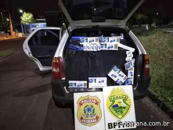 Policiais apreendem veículo com cigarros contrabandeados em Santa Terezinha de Itaipu - O Paraná
