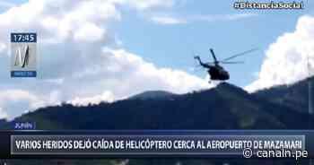 Junín: Caída de helicóptero del Ejército cerca al Aeropuerto de Mazamari deja varios heridos - Canal N