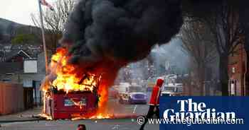 Protesters in Belfast hijack bus and set it on fire – video - The Guardian