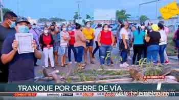 Residentes en Chepo vuelven a cerrar la vía por invasión de tierras - Telemetro