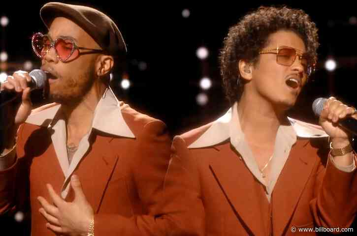 Bruno Mars & Anderson .Paak, as Silk Sonic, Top Billboard Hot 100 With 'Leave the Door Open'
