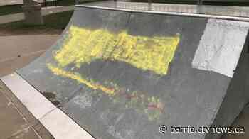 Barrie skate park tagged with hateful graffiti