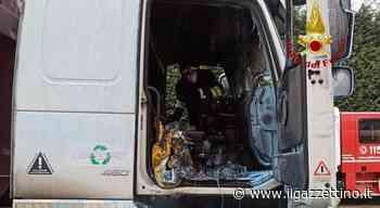 Incendio nella cabina guida di un camion a Vigonza: distrutta Foto - ilgazzettino.it