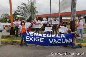 En Cabudare también salieron a las calles para exigir vacunación contra el coronavirus en Venezuela #11Abr - El Impulso