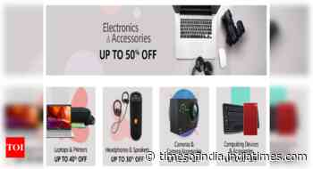 Amazon Sale Offers Up To 50% Off On Electronics & Accessories From Zebronics, JBL, Dell, Amkette, HP, D-L - Times of India