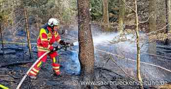 Waldbrand und Garagenbrand in Schmelz, Löschbezirk Schmelz der Feuerwehr rückte aus - Saarbrücker Zeitung