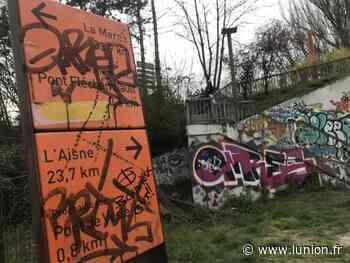 À Reims, le long du canal, des panneaux défigurés - L'Union