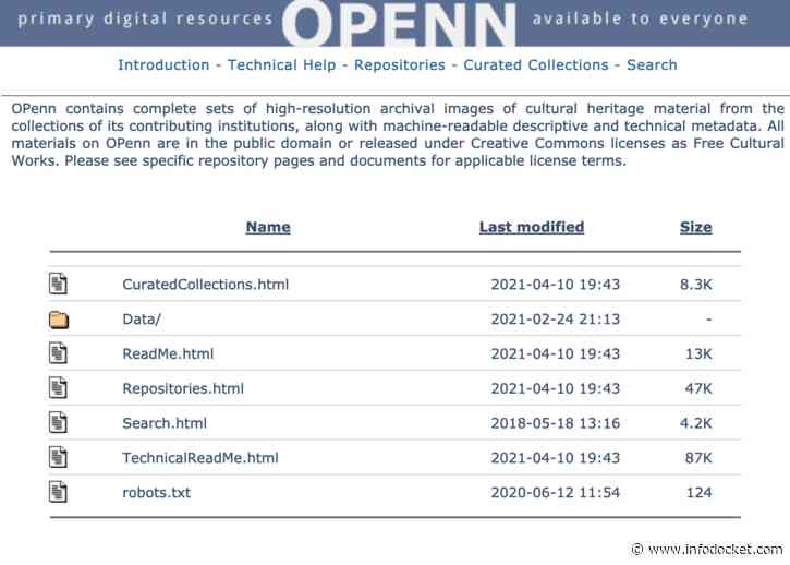 "Penn Libraries: ""'Just Make the Data Available': Exploring Manuscripts with OPenn"""