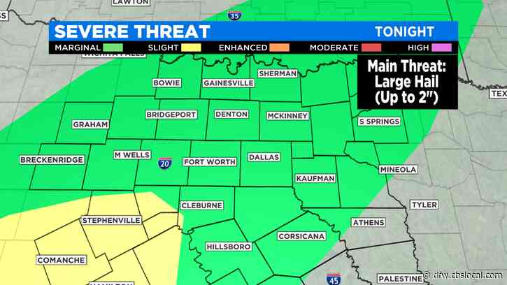 Severe Weather Possible As Cold Front Moves Through North Texas