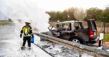 Land Rover geht bei Friedrichsdorf in Flammen auf - Usinger Anzeiger
