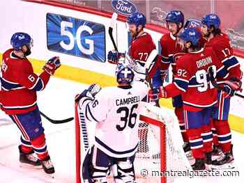 Canadiens end three-game losing streak against first-place Leafs