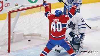 Tatar's 2-goal night helps Habs halt Maple Leafs' 6-game win streak