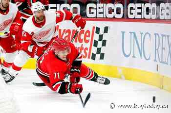 Red Wings upend Hurricanes with 3-1 victory