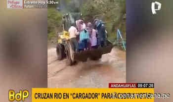 Andahuaylas: Pobladores cruzan río en maquinaria para acudir a su local de votación   Panamericana TV - Panamericana Televisión