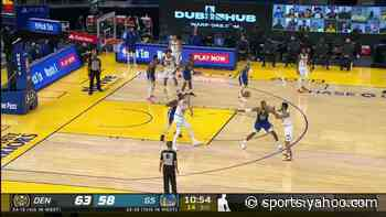 Draymond Green with a dunk vs the Denver Nuggets