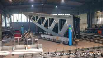 Stahlkonstruktion: Einheitsdenkmal im Winter fertig