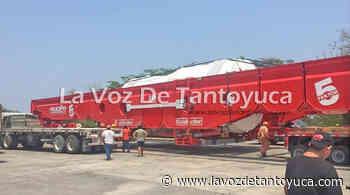 Pasa por Remanso enorme turbina que tiene como destino Tamazunchale - La Voz De Tantoyuca