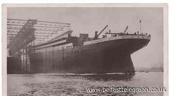 Radio operator's Titanic postcard up for auction