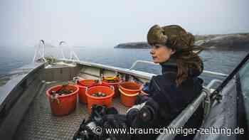 Auf hoher See mit Schwedens einziger Austerntaucherin