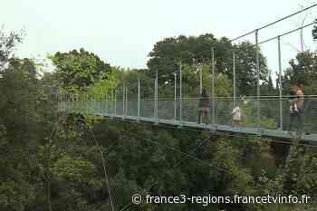 Trans-en-Provence : une passerelle himalayenne de 70 mètres de long - France 3 Régions