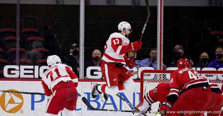 Bernier, Erne Yay! Red Wings beat the Canes 3-1.