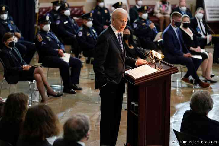 Biden, Lawmakers At Tribute For Slain Capitol Police Officer William 'Billy' Evans