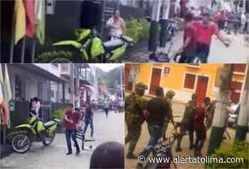 Sujeto le dio machete al CAI y una moto de la Policía en Rioblanco – Tolima - Alerta Tolima
