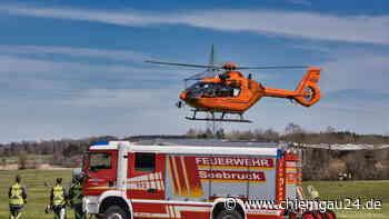 Seebruck: Motorradfahrer bei Unfall in Seebruck verletzt - Hubschrauber im Einsatz - chiemgau24.de